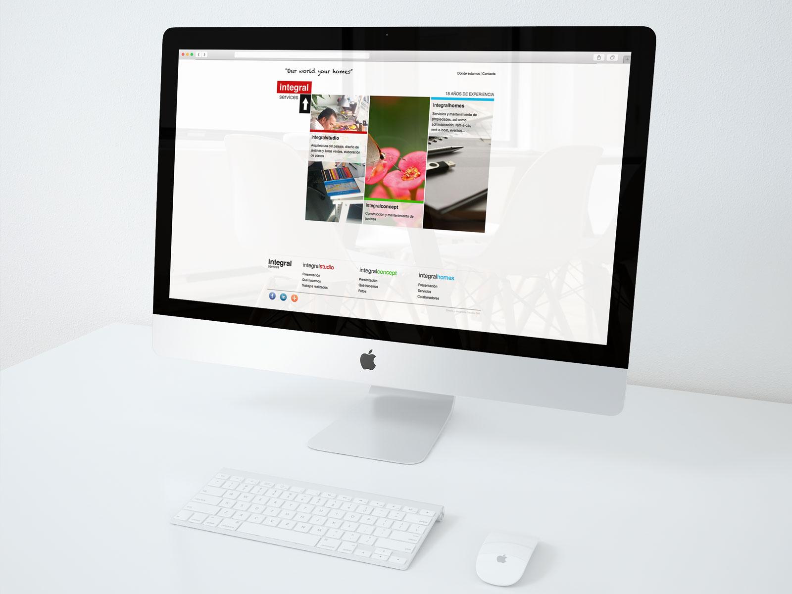 Página web para Integral services, empresa de paisajismo y mantenimiento