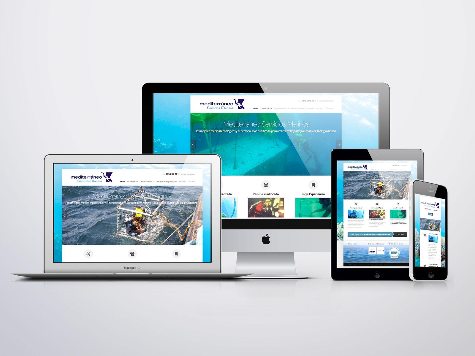 Página web para Mediterráneo servicios marinos