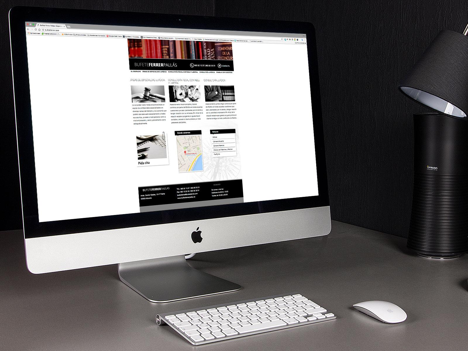 página web bufete de abogados Ferrer